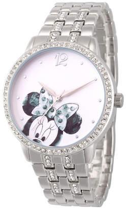 EWatchFactory Women Disney Minnie Mouse Silver Bracelet Watch 40mm