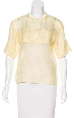 Manoush Silk Short Sleeve Blouse