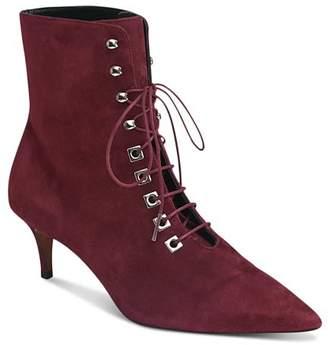 Whistles Women's Celeste Kitten Heel Suede Boots