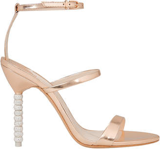 Sophia Webster Rosalind Rose Gold Crystal Heel Sandals