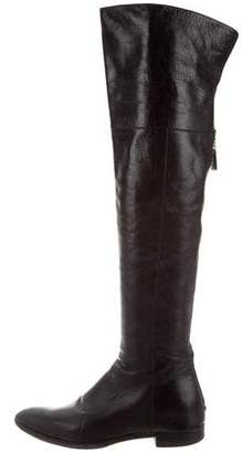 Prada Leather Over-The-Knee Boots