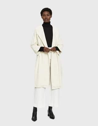 Black Crane Cotton Jacquard Coat