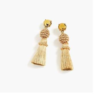 J.Crew Bead and tassel earrings