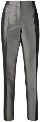 Alberta Ferretti metallic tailored trousers