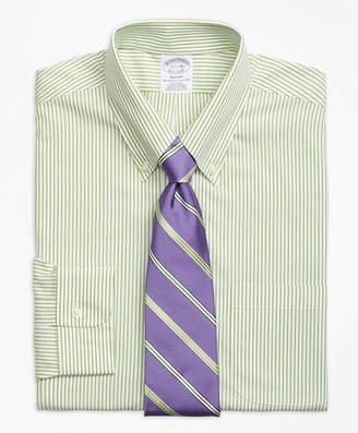 Brooks Brothers Regent Fitted Dress Shirt, Non-Iron Wide Stripe