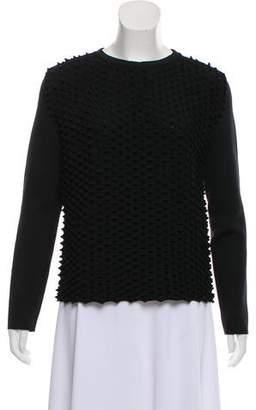 Paco Rabanne Textured Crew Neck Sweater
