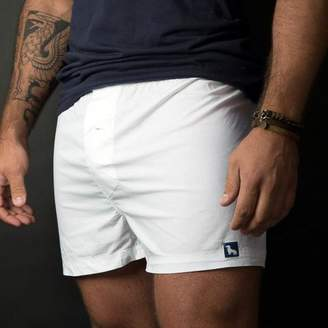 Blade + Blue Solid White Boxer Short - Edward