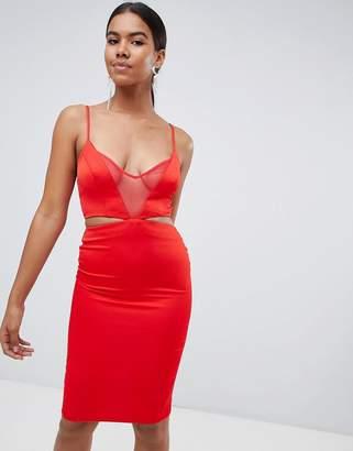 Missguided strappy midi dress