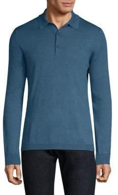 Boglioli Long-Sleeve Cotton Polo