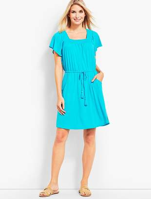 Talbots Smocked-Neck Cover-Up