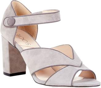 Sole Society Suede Block Heel Sandals - Adena
