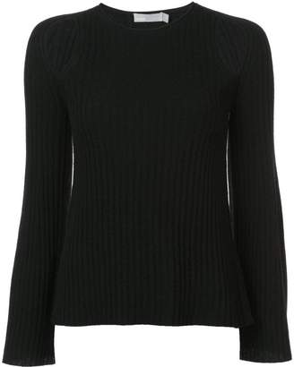 Vince ribbed knit cutout sweater