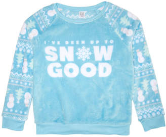 Awake Big Girls Snow Good Plush Sweatshirt