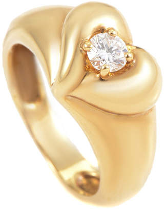 Van Cleef & Arpels Heritage  18K 0.25 Ct. Diamond Heart Ring