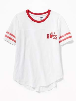 Old Navy Graphic Football-Style Tee for Girls