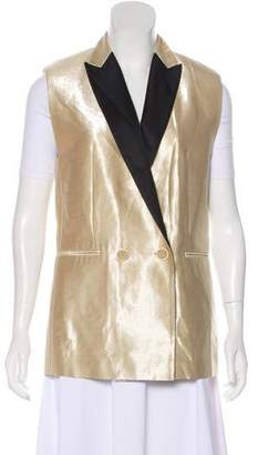 Brunello Cucinelli Metallic Double-Breasted Vest w/ Tags