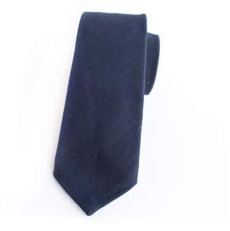 Kathrine Zeren Solid Navy Wool Tie