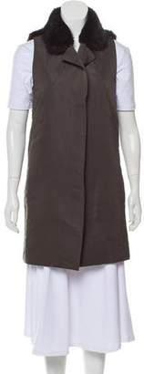 Marni Fur-Trimmed Button-Up Vest