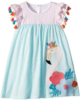 Mud Pie Flamingo Tassel Dress Girl's Dress