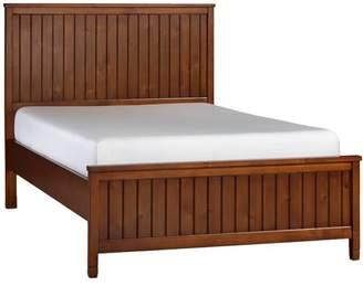 Pottery Barn Teen Beadboard Basic Bed, Full, Chestnut