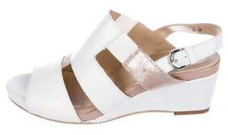 Sesto Meucci Leather Wedge Sandals