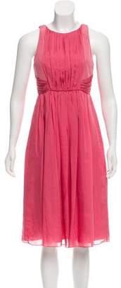 Tibi Pleated Silk Dress
