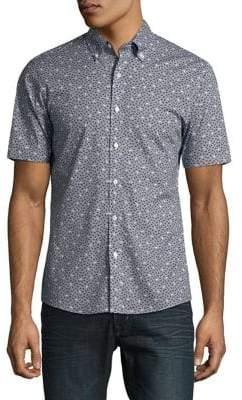 Michael Kors Printed Button-Down Shirt