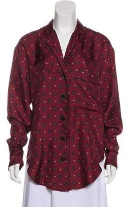 Rag & Bone Silk Printed Pajama Top