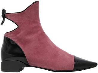 Fabrizio Viti 20mm Take A Bow Suede & Leather Boots