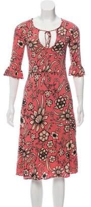 For Love & Lemons Printed Long Sleeve Dress