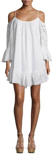 BCBGMAXAZRIABCBGMAXAZRIA Off-The-Shoulder Eyelet Dress, White
