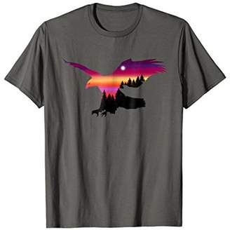 Beautiful Flying Eagle Surreal Sky Silhouette T-Shirt