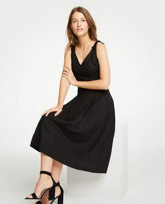 Ann Taylor Tie Shoulder Midi Dress