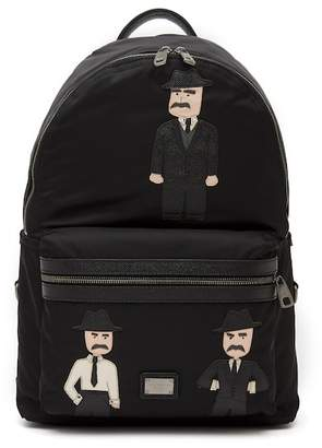 Dolce & Gabbana Applique Nylon Backpack