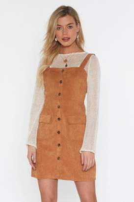 7f1402f0409 Nasty Gal All Pinafore You Corduroy Mini Dress