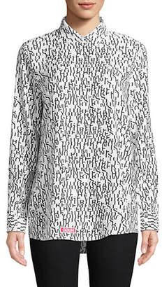 HUGO Logo Print Dress Shirt