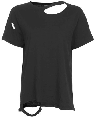 Women's Topshop Ripped Cotton Tee 3