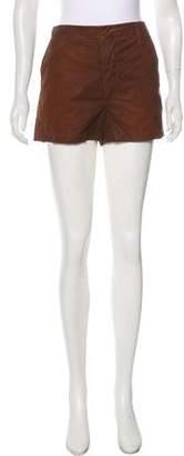 J Brand Coated Denim Mini Shorts