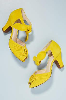 Miss L Fire Bow-Tied Peep Toe Heels
