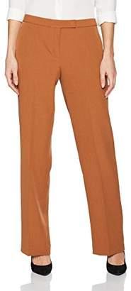 Kasper Women's Stretch Crepe Straight Legged Pant