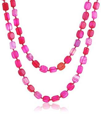 Lola Rose Women's Base Metal Ruby Rae cheery agate Necklace of Length 156 cm