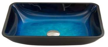 Vigo VG07068 Sapphire Glass Vessel Sink in Blue