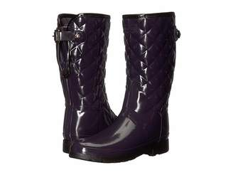 Hunter Refined Gloss Quilt Short Rain Boots