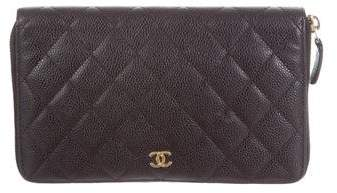 Chanel Quilted Caviar Organizer Wallet