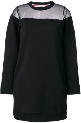 Rossignol mesh panel sweatshirt dress