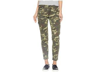KUT from the Kloth Donna Ankle Cargo Skinny Jeans in Olive