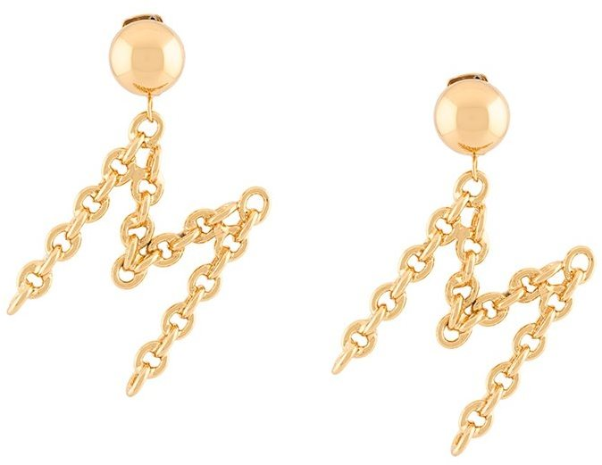 Moschino Moschino M clip on earrings