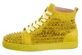 Christian Louboutin Louis Flat Spikes Sneakers Yellow Louis Flat Spikes Sneakers