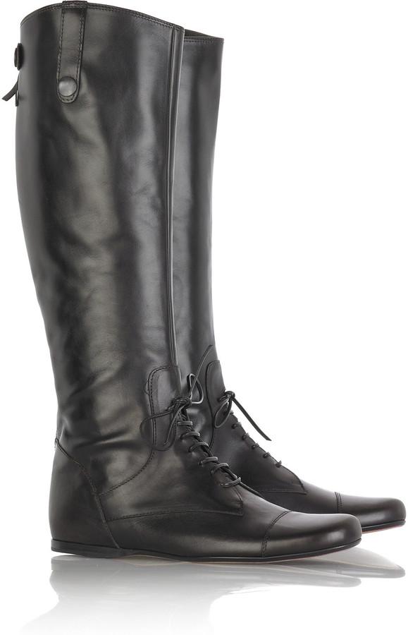 Miu Miu Flat lace-up boots