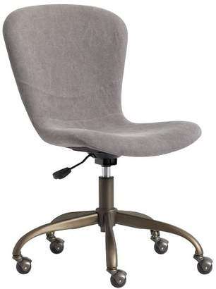 Pottery Barn Teen Sublime Desk Chair, Enzyme-Washed Canvas Gray